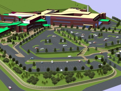 Proposed Hospital Grounds Render